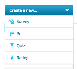 create a new quiz drop down menu