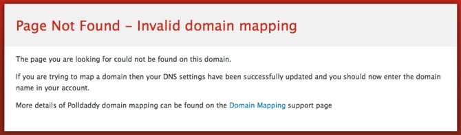 Domain not yet mapped