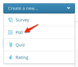 how do i create a poll crowdsignal