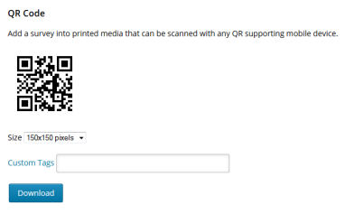 QR code embed – Crowdsignal