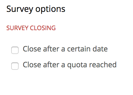 Image of survey options.