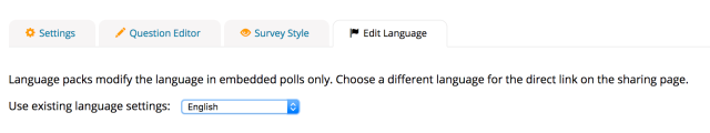 Image of how to select a language pack.