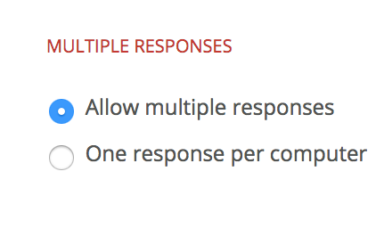 Image of multiple response options.