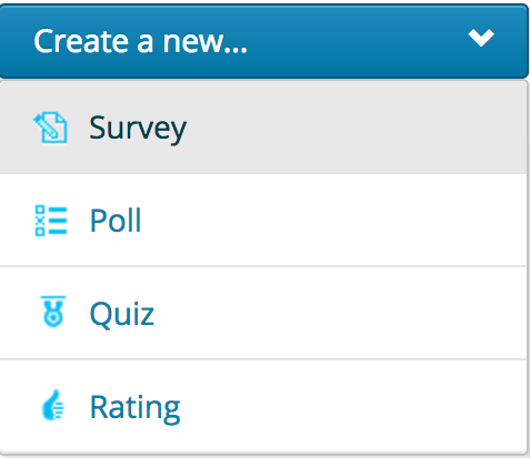 Image of creating a new survey menu.
