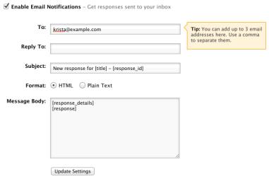 Custom email notifications for surveys – Crowdsignal