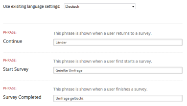 Survey Language Options – Crowdsignal