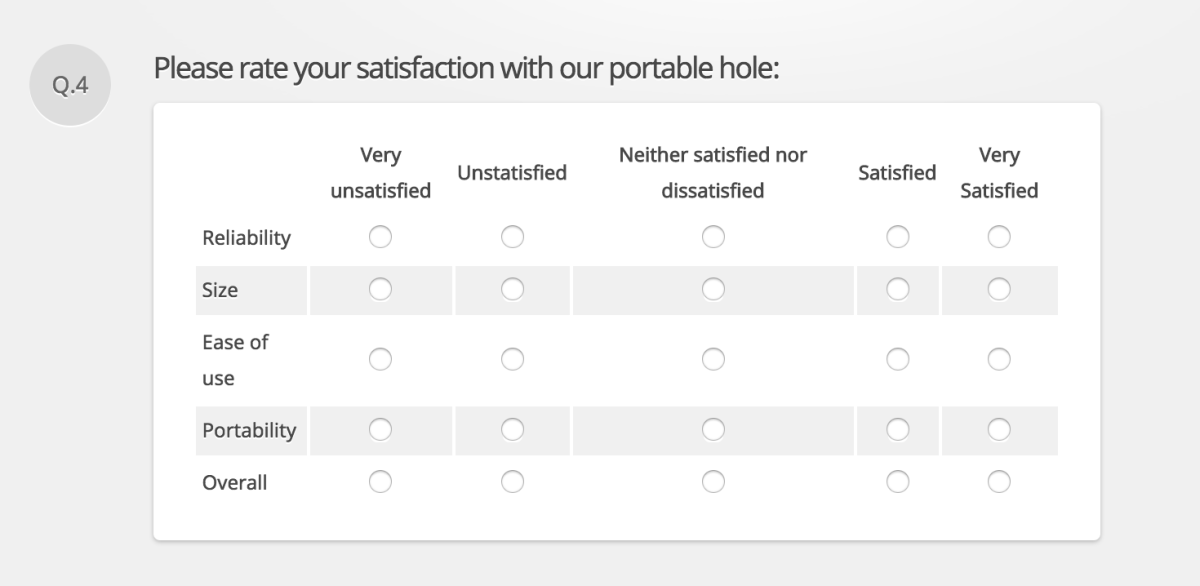 Likert Options Preview