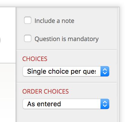 Matrix options