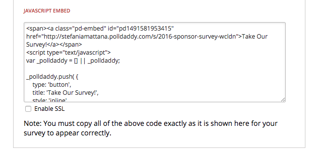 polldaddy embed survey javascript code
