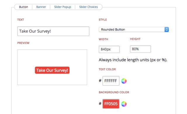polldaddy survey embed button